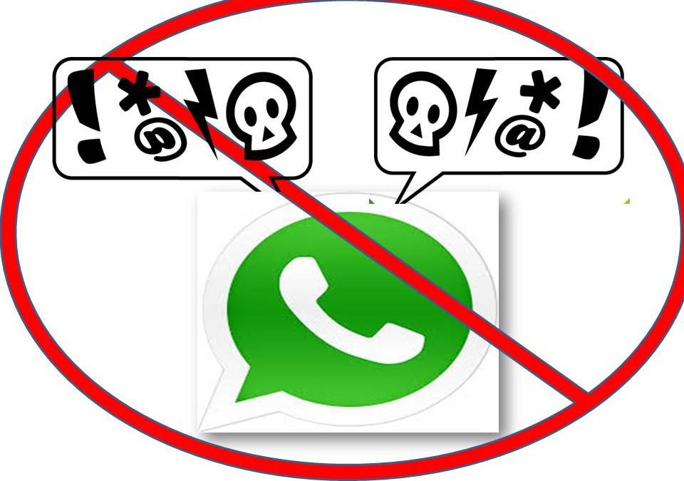 Prohibido discutir por WhatsApp